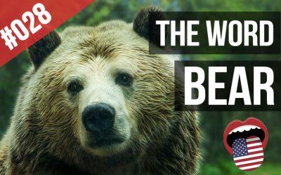 verbo to bear en inglés