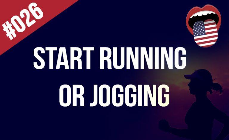 empieza a correr o trotar