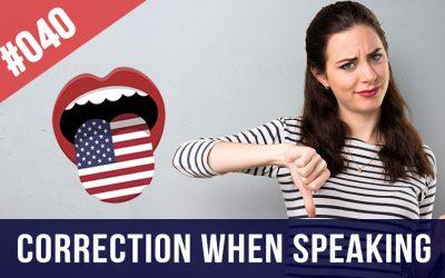 corrección al hablar inglés