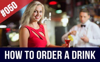 pedir una bebida en inglés