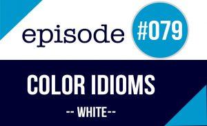Expresiones color blanco en inglés
